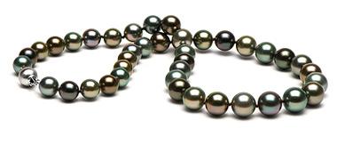 Collana multicolore Perle nere di Tahiti